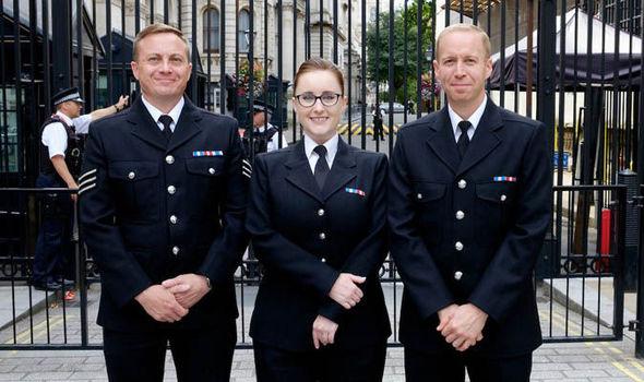 HEROIC: PCs Michael Otterson, Sarah Currie and Sergeant Elliott Richardson