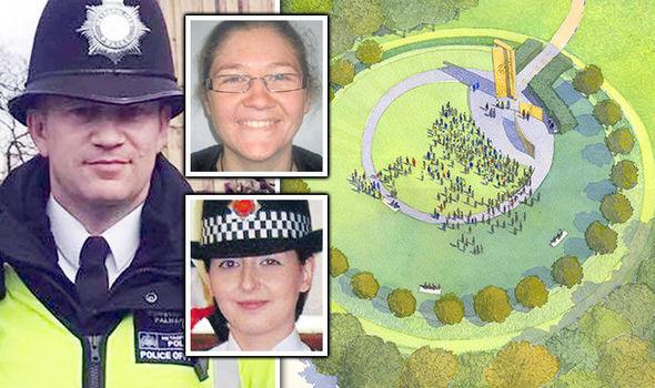 Keith Palmer, Nicola Hughes, Fiona Bone and memorial