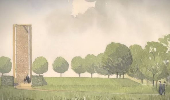 An early design for the new memorial planned at the arboretum