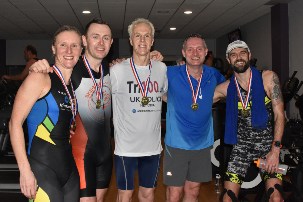 After day 83's Lincolnshire Police's charitable triathlon.